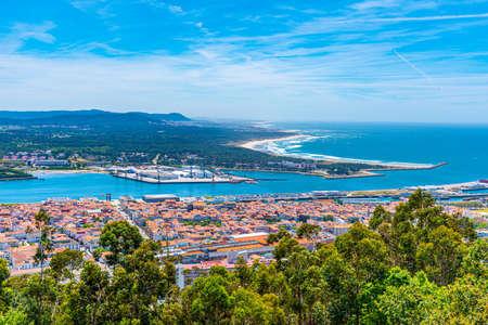 Photo pour Aerial view of Viana do Castelo in Portugal - image libre de droit
