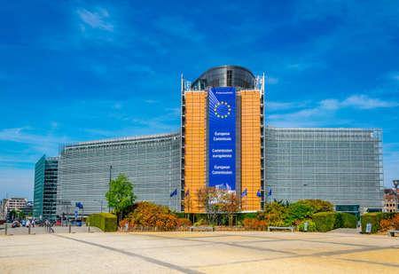 Photo pour BRUSSELS, BELGIUM, AUGUST 4, 2018: Berlaymont building of the European Commission in Brussels, Belgium - image libre de droit