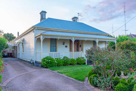 Photo for Traditional wooden houses at Colac, Australia - Royalty Free Image