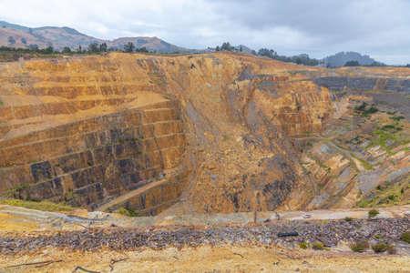Photo pour Aerial view of Martha mine at Waihi, New Zealand - image libre de droit