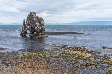 Photo pour Hvitserkur basalt rocks on Iceland - image libre de droit
