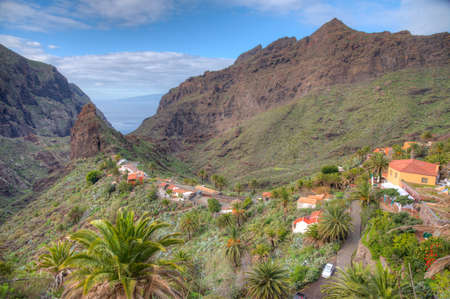 Photo pour Masca village situated in a picturesque valley, Tenerife, Canary Islands, Spain. - image libre de droit