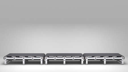 empty conveyor belt  for use in presentations, manuals, design, etc