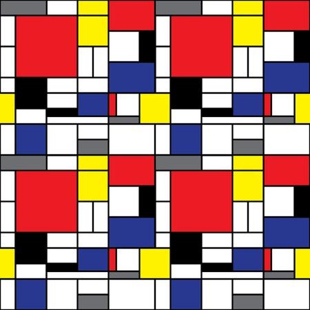 Seamless Mondrian Background