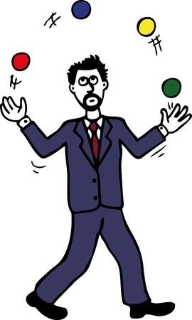 Juggling man