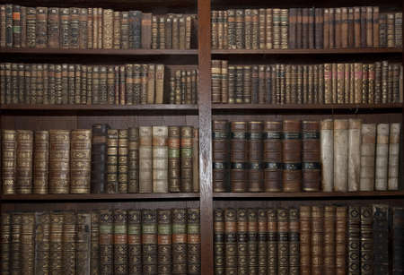 historic old books in a old library