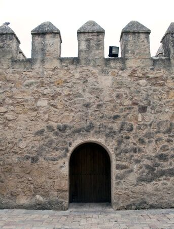 Castle wall with a gate