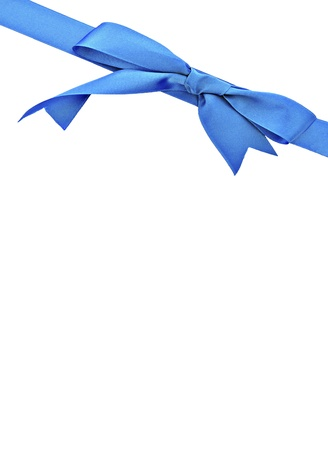 Vertical blue ribbon surrounded by white background
