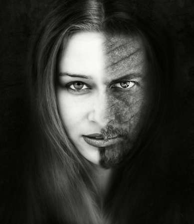 Beauty and the beast - portrait inspired by the famous story