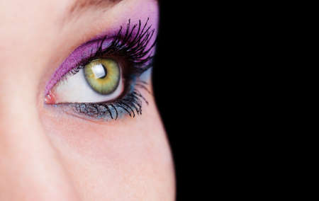 Closeup on female eye with beautiful makeupの写真素材