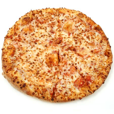 High Resolution cheese pizza with good DOF.