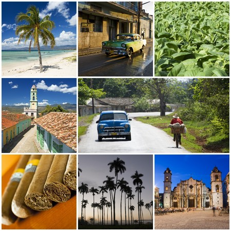 beautiful cuban collage made from eight photographs