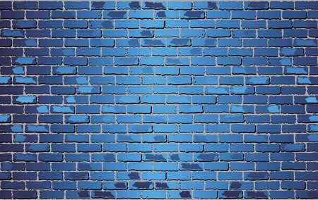 Illustration pour Shiny Blue Brick Wall - Illustration,  Abstract vector background - image libre de droit