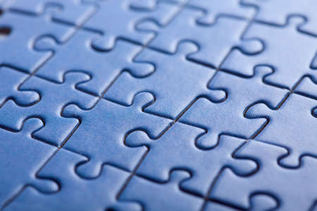 abstract blue puzzle background