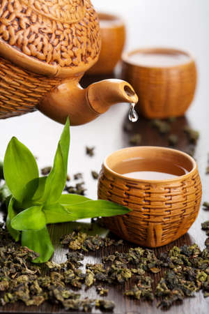 Photo pour green tea  - image libre de droit