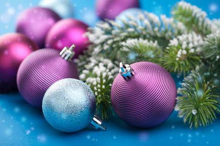 Photo pour colorful christmas balls  - image libre de droit