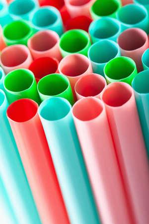 Photo for Single use plastic drinking straws - Royalty Free Image