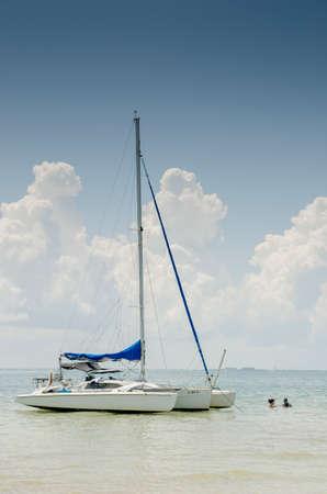 trimaran sailboat at 3 Rooker Island, Florida