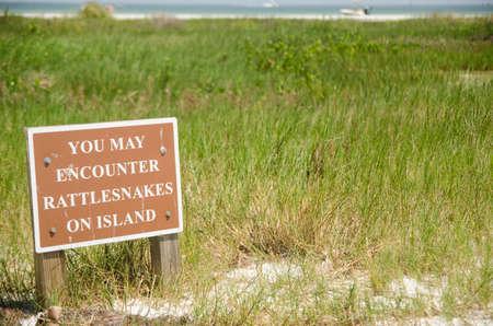 Rattlesnake sign 3 Rooker Island, Florida