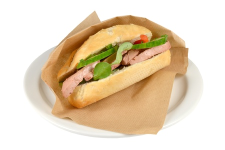 Luxury  sandwich roompate  on a white background