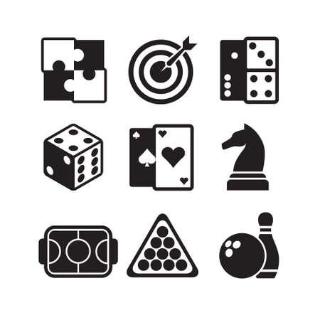 Illustration pour games icons set - image libre de droit