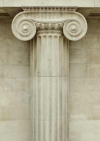 Ionic column detail, greek architecture