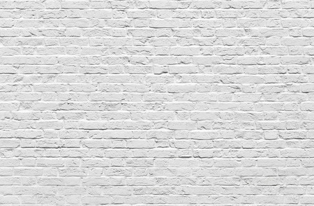 White brick wall texture or background
