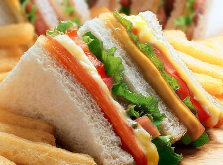Photo for Club sandwich - close up - Royalty Free Image