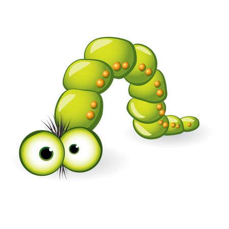 Larva Character. Illustration on white background for design