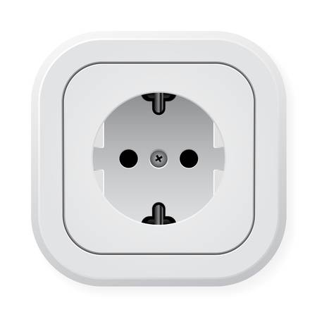 Realistic illustration power outlet