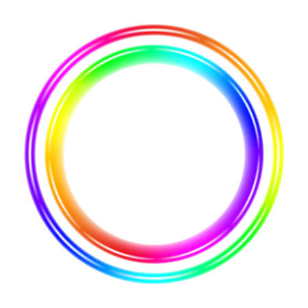 Multicolor spectral circle. Illustration on white background