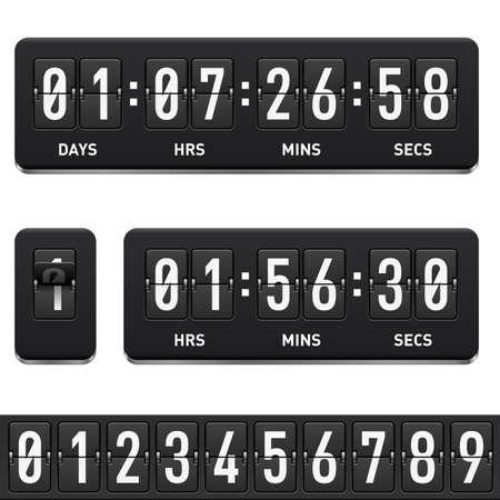 Countdown timer. Illustration on white background for design