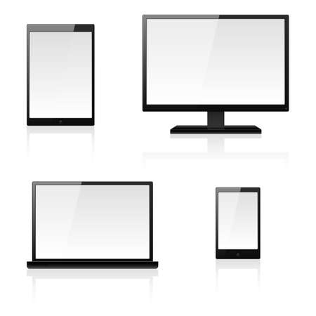 Digital devices. Illustration for design on white background