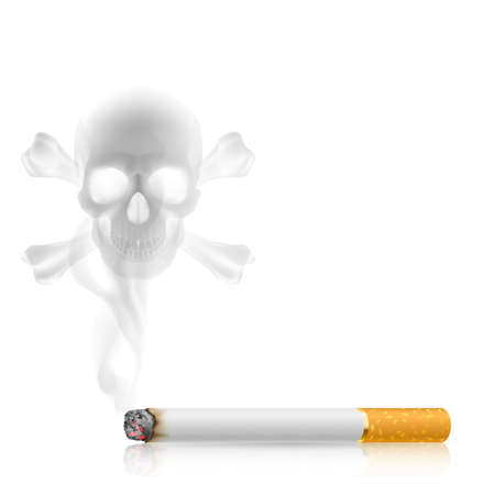 Skull shaped smoke  from cigarette