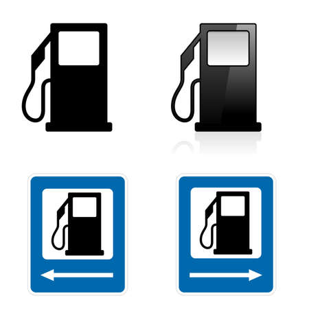 Gas Station sign. Illustration on white background
