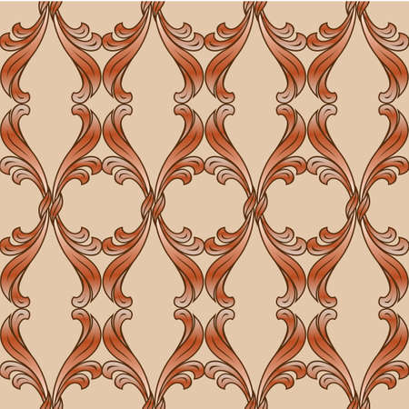 Abstract background with floral pattern in brown shades