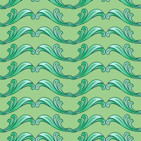 Abstract background with floral pattern in green colors