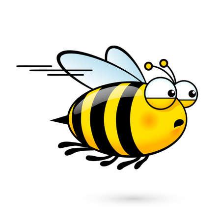 Illustration pour Illustration of a Friendly Cute Bee a Hurry to Visit - image libre de droit