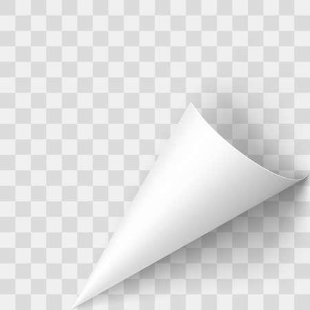 Illustration pour Illustration of Transperent Page Corner. Template Design for Creative Idea - image libre de droit