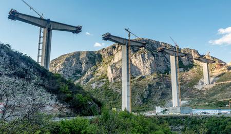 Construction of bridge of a new highway in Montenegro