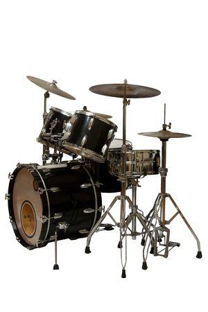 five piece drum kit (white background)