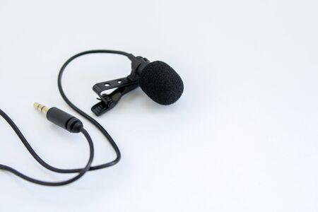 Photo pour lapel microphone on white background - image libre de droit