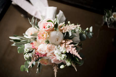 Photo for a bridal bouquet with butterfly and decor - Royalty Free Image