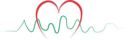 An illustration with heartbeat