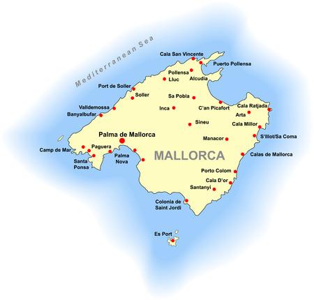 Mallorca Karte Sa Coma.Mallorca Vectorgraphics About Mallorca At Clipdealer