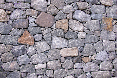 Foto de Nature stone wall as background - Imagen libre de derechos