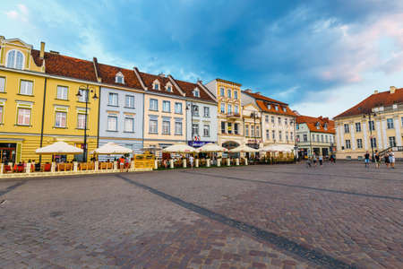 Bydgoszcz, Poland, May 31, 2018: Old town in Bydgoszcz. Bydgoszcz is architecturally rich city, with neo-gothic, neo-baroque, neoclassicist styles present, for which it earned a nickname Little Berlin