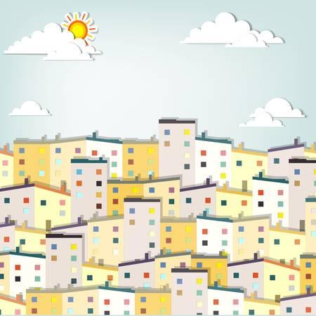 panorama town  creative vector applique