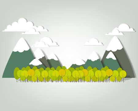 Illustration pour Mountain landscape  creative vector applique - image libre de droit