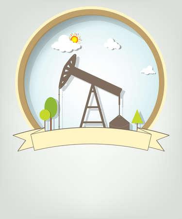 emblem with oil pump
